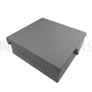 "EB-12126BP-GY Enclosure Box 12"" x 12"" x 6"", Indoor/Outdoor Non-Metallic, NEMA 3R Rated with Backplate - Grey - Infinite Cables"
