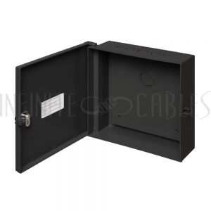 """EB-1212BP-BK Enclosure Box 12"""" x 12"""" x 4"""", Indoor/Outdoor Non-Metallic, NEMA 3R Rated with Backplate - Black - Infinite Cables"""