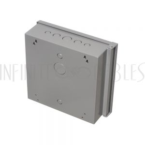 "EB-1212BP-GY Enclosure Box 12"" x 12"" x 4"", Indoor/Outdoor Non-Metallic, NEMA 3R Rated with Backplate - Grey - Infinite Cables"
