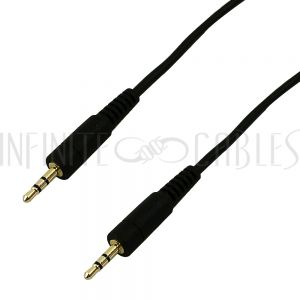 AUD-120-01 2.5mm Stereo Male to Male Cable - Riser Rated CMR/FT4 - Infinite Cables