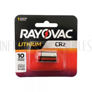 BT-CR2-1 Rayovac CR2 Lithium Batteries - RLCR2-1G (1 per pack) - Infinite Cables