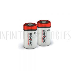 BT-CR2-2 Rayovac CR2 Lithium Batteries - RLCR2-2G (2 per pack) - Infinite Cables