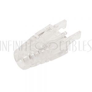 CN-BTS5-CL-10 RJ45 CAT5E Snagless Boot (No Tab) - Clear - 10 pack - Infinite Cables