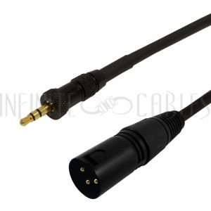 3.5mm Locking Male to XLR Male Cables - Infinite Cables