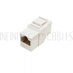 JK-8C6FF-WH Cat6 RJ45 Female to Female Keystone Coupler - White - Infinite Cables
