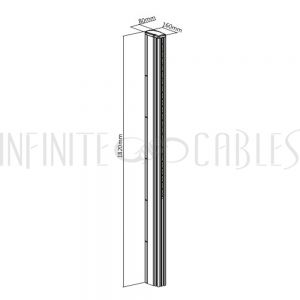 MT-1610-C1800 Video Wall Floor Stand - Column 1800mm - Infinite Cables
