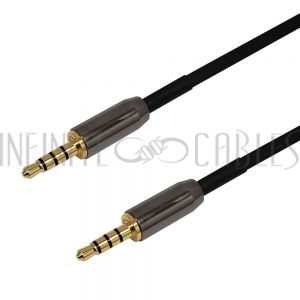 35MM4C1-03PL Premium Phantom Cables 3.5mm 4C Male To Male Cable 22AWG - Plenum - Infinite Cables