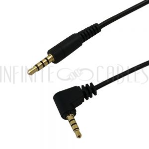 3.5mm Male Straight to 3.5mm Male Right Angle 4C - Premium - Infinite Cables