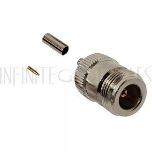 CN-01-100 N-Type Female Crimp Connector for RG174 (LMR-100) 50 Ohm - Infinite Cables