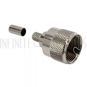 CN-50-240 UHF Male Crimp Connector for LMR-240 (PL-259) - Infinite Cables