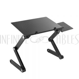 MT-2620-BK Laptop Stand with Mouse Pad - Height Adjustable - Black - Infinite Cables