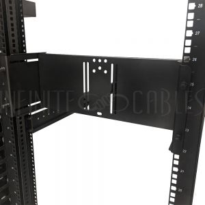 RM-395-4U 19 Inch Adjustable Rack Mount Monitor Mount - 4U - VESA 75x75, 100x100 - Infinite Cables