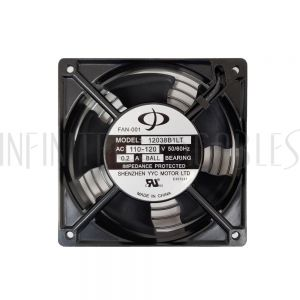 RM-615 Fan Kit for RM-500 Series Wall Mount Cabinets – Low Decibel 28dBa - 55 CFM - Pair - Infinite Cables