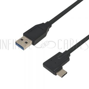 USB 3.1 Type-C Right/Left Angle Male to A Straight Male - Infinite Cables