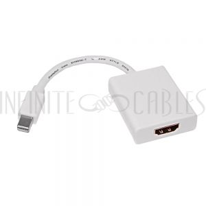 AD-MDP-HDMI 6 inch Mini-DisplayPort/ThunderBolt Male to HDMI Female with Audio Adapter