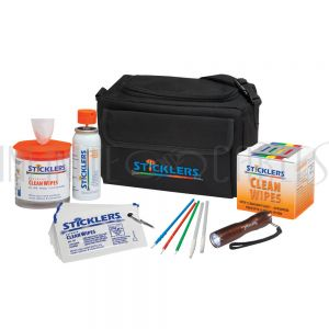 FO-MCC-FK03 Sticklers® Fiber Cleaning Kit - 2 POC03M, 1 WFW, 1 WCS100, 25 CleanWipes, 50 S25 sticks, 20 S12, LED light - Infinite Cables