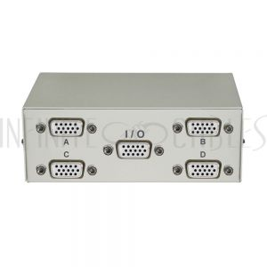 MB-HD15-41 4x1 ABCD HD15 Manual Switch Box - Infinite Cables