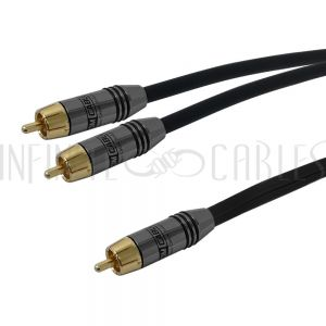 RCA Y Splitter Subwoofer Cables