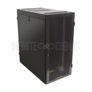 "RM-1105 24U Server Cabinet with Fan Tray, Black (47.2""H x 23.6""W x 43.4""D) - Infinite Cables"