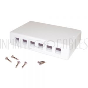 SB-6P12P-WH Surface Box 6 Port or 12 Port - White - Infinite Cables