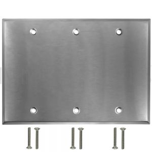 WP-SS3 Triple Gang Stainless Steel Wall Plate - Solid
