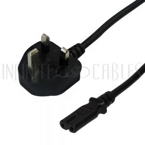 BS1363 (UK) to C7 Power Cords