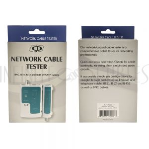 TLH-1000 Network Cable Tester for RJ45 UTP/STP, RJ11, RJ12 and BNC Cables - Infinite Cables