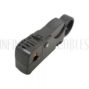 TLH-521 Professional Strip Tool for Coaxial Cables - RG58, RG59, RG62 & RG6 - 2 Blades - Infinite Cables