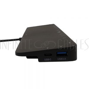 AD-UC-DS03 USB 3.1 Type-C to Docking Station with PD Charging  - Black - Infinite Cables