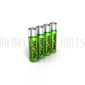 BT-NIMH2-AAA-4 Rayovac AAA Rechargeable NiMH Batteries (4 per pack) - Infinite Cables