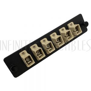 PP-FC504-6BK Loaded LGX Adapter Panel with 6x Simplex SC/PC Multimode - Black - Infinite Cables