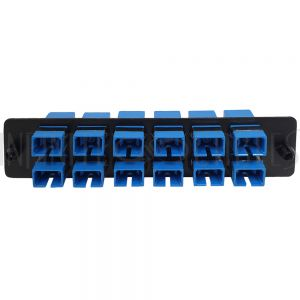 PP-FC604-12BK Loaded LGX Adapter Panel with 12x Simplex SC/UPC Singlemode - Black - Infinite Cables
