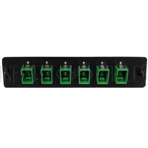 PP-FC604A-6BK Loaded LGX Adapter Panel with 6x Simplex SC/APC Singlemode - Black - Infinite Cables