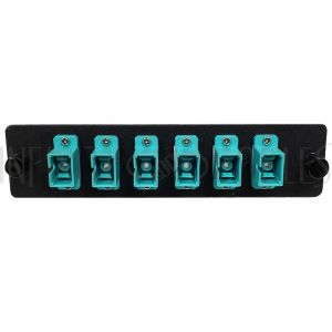 PP-FC804-6BK Loaded LGX Adapter Panel with 6x Simplex SC/PC Multimode 10G - Black - Infinite Cables