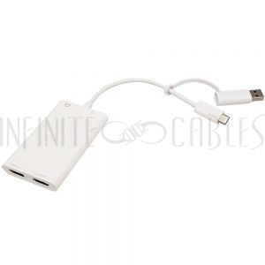 VC-300 HDMI to USB 3.0 Audio/Video Capture Card - 4K Pass-through - 1080P Capture - 60FPS - White - Infinite Cables
