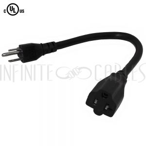 5-15P to 5-20R Power Cords