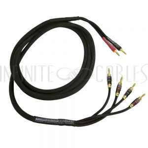 Banana Clip to Banana Clip Speaker Cables - Bi-Wire - Infinite Cables