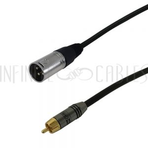 RCA Male to XLR Male Cables - Infinite Cables