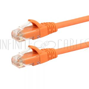 CAT6-0.8OR RJ45 Cat6 550MHz Molded Patch Cable - Premium Fluke® Patch Cable Certified - CMR Riser Rated - Infinite Cables
