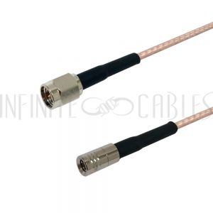 RF316-1040-00.5 RG316 SMA Male to SMB Male Cable - Infinite Cables