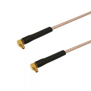 RF316-7474-00.5 RG316 MMCX Male Right Angle to MMCX Male Right Angle Cable - Infinite Cables