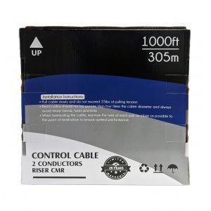 BK-CON421-WH 1000ft 2C 18AWG Stranded Control Cable CMR - White - Infinite Cables