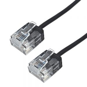 CAT6UTM-01BK Cat6 UTP Micro-Thin Molded Patch Cable - 32AWG - Riser CMR - Infinite Cables
