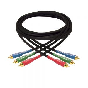 RCA3-10PL Premium Phantom Cables Double Shielded RCA Component Cable Male to Male Plenum Rated FT-6 - Infinite Cables