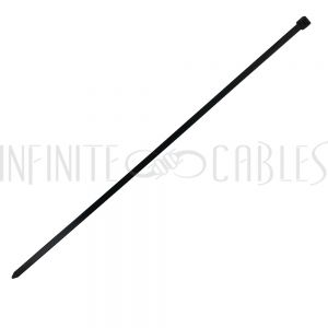 CT-318-100BK 100pk 18 Inch Cable Tie (120lb) - UV & Weather Resistant Nylon 66 - Black - Infinite Cables