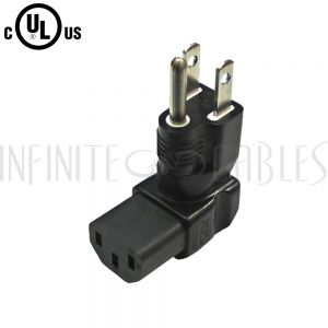 5-15P to C13 Right Angle Power Adapter