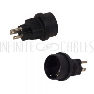 SCHUKO CEE 7/7 (Euro) Female to 5-15P Power Adapter
