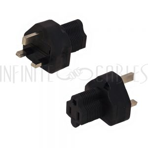 BS1363 (UK) Male to 5-15R Power Adapter