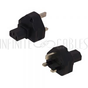 BS1363 (UK) Male to C13 Power Adapter