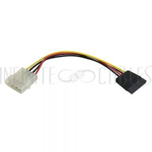 SA-900-06 6 inch 4 pin Power to 15 pin SATA Power Cable